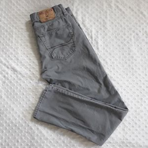 Hollister straight leg grey gray pants 30 x 32